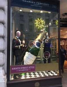 """CHARLES TYRWHITT, Jermyn Street, London, UK, """"George... A party without Champagne is just a meeting"""", photo by Beekwilder BV, pinned by Ton van der Veer"""