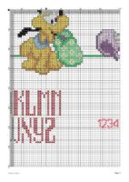 Gallery.ru / Фото #3 - Natalicio 3 - cnekane Cross Stitch Baby, Counted Cross Stitch Patterns, Cross Stitch Charts, Baby Disney, Disney Mickey, Minnie, Mickey Mouse, Mickey And Friends, Disney Cartoons