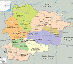 Andorra Physical Map