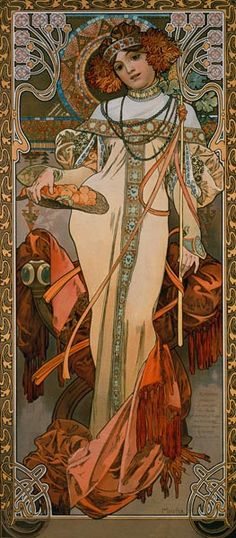 Seasons: Autumn (1900) - Alphonse Mucha