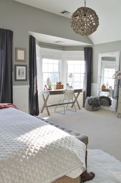 City Farmhouse Rustic Chic Master Bedroom With Grays Warm C Home Window
