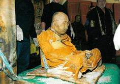 """""""Exhumation of the body of #HamboLamaItigelov took place September 10 th, 2002 on the territory of cemetery near the city of #UlanUde (Russian Federation). He died and was buried in 1927 and the exhumation was performed in presence of relatives, officials, and specialists""""."""