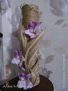 Como hacer flores y hojas de cuerda para decoraciones rústicas