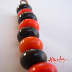 Mini Halloween Lampwork Glass Bead Spacers Set by HollysFollyGlass, $12.00