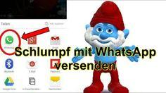 #Schlumpf mit WhatsApp versenden. Schlumpf & Schlumpfine erstellt mit #Zoobe App deutsch
