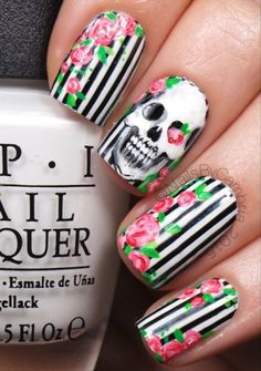 To start choose at least five neon polishes of your choice, the more variety the more life will be given to your skull nails, if you want to go with just a single color then you can do so as long as it fits your costume theme. The black polish for the skulls should at least be black lacquer; this is so that the skulls will not chip that easily. Even though you say that you will protect the design with the clear coat on top, it still helps that the skull polish itself is long lasting. Start…