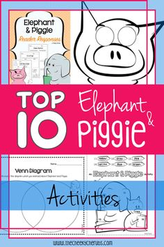 """Mo Willems is one of my favorite author studies. I really enjoy using Willems because it brings a lot of fun to our classroom! His books are entertaining and the kids always have a great time. These highly engaging """"Elephant & Piggie"""" themed activities are sure to be a hit with your young learners. See the list of suggestions below. Hope you enjoy!"""