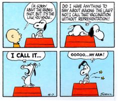 Snoopy vaccination without representation! Snoopy Cartoon, Snoopy Comics, Peanuts Cartoon, Peanuts Snoopy, Peanuts Comics, Snoopy Love, Snoopy And Woodstock, Thanksgiving Cartoon, Thanksgiving Wallpaper