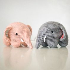 Easy Crochet Elephants by allaboutami #Toys #Softies #Elephant: