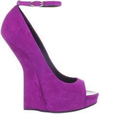 Giuseppe Zanotti Purple Suede Sculpted Wedge http://shoerazzi.com/giuseppe-zanotti-purple-suede-sculpted-wedge/