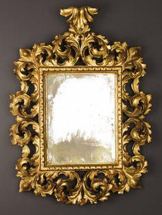 Cornucopia de estilo rococ con espejo central rectangular - Espejos estilo barroco ...