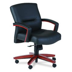 Hon Office Chair - Pin it :-) Follow us :-)) AzOfficechairs.com is your Office chair Gallery ;) CLICK IMAGE TWICE for Pricing and Info :) SEE A LARGER SELECTION of  hon office chair at http://azofficechairs.com/?s=hon+chair - office, office chair, home office chair - HON 5002JSS11 5000 Series Park Avenue Managerial Mid-Back Chair, Henna Cherry/Black Leather « AZofficechairs.com