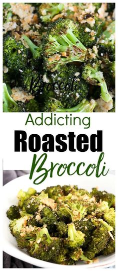 Roasted Broccoli with Parmesan Recipe--even your kids will eat this healthy broccoli side dish. Parmesan Broccoli, Parmesan Recipes, Kale Recipes, Cabbage Recipes, Rib Recipes, Pork Chop Recipes, Avocado Recipes, Oven Recipes, Pudding Recipes