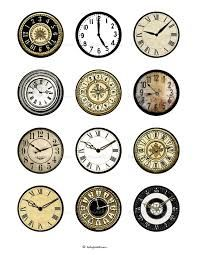 clock faces printable