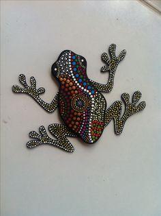 puntillismo, dot to dot Aboriginal Patterns, Aboriginal Dot Painting, Dot Art Painting, Mandala Painting, Painting Patterns, Stone Painting, Mandala Dots, Mandala Pattern, Tree Frog Tattoos