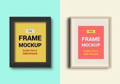 Photo Frames PSD Mockups. 2 free, near-realistic photo frames #webdesign #resources #mockups