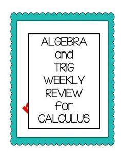 Math Before Calculus Weekly Review for Calculus AB Math Teacher, Math Classroom, Teaching Math, Classroom Ideas, Teacher Stuff, Teaching Ideas, Ap Calculus, Maths Algebra, Differential Calculus