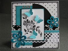 Ah! La Carte... Scrapbook Cards, Scrapbooking, Paper Crafts, Diy Crafts, Butterfly Cards, Making Ideas, Cardmaking, Christmas Cards, Creations