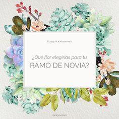 ¿Qué flor elegirías para tu ramo de novia? www.zankyou.es #preguntadelasemana