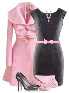 6933be1b7e Pink   Gray Beautiful Outfits