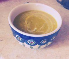 Warming zucchini cream sup