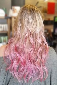 Hair Pink Ombre Hair 8189 30 Majestic Ombre Fall Hair Colors Not to Miss Hair Rose Gardening Tasks E Blonde To Pink Ombre, Red Hair With Blonde Highlights, Pastel Pink Hair, Hair Color Pink, Cool Hair Color, Blonde Hair Pink Tips, Blonde Hair With Color, Pink Peekaboo Highlights, Pink Hair Streaks