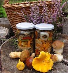 Jak uchovat houby na zimu | recept na nakládané houby Preserves, Pickles, Dog Food Recipes, Cucumber, Canning, Preserve, Preserving Food, Dog Recipes, Pickle