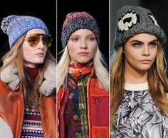 Fall/ Winter 2014-2015 Headwear Trends: Knitted Hats  #hats #headwear