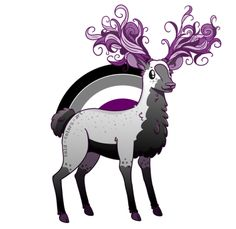 """cold-colors-art: """" A new Queer Deer has been found! It's an Asexual Deer! *shocked crowd noises* So far the second of the Queer Deer Herd. Ace Pride, Ace Of Hearts, Pansexual Pride, Lgbt Love, Lgbt Community, Lesbian, Goth, Drawings, Punk"""