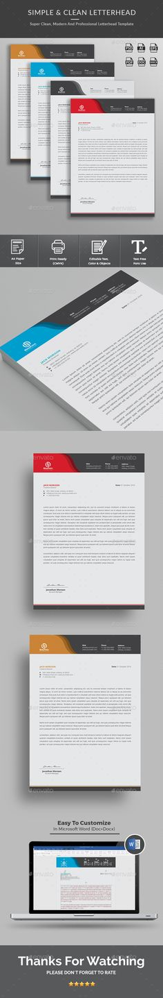 A simple unique #letterhead for all kind of business and personal