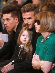 New York Fashion Week: It's a Beckham Family Affair! | VICTORIA BECKHAM FRONT ROW | Fashion Week was a family affair for the Beckham family: David brought his four children to sit front row for mom Victoria's show, including Harper, 3, who appears to have already mastered her fashionista side-eye.