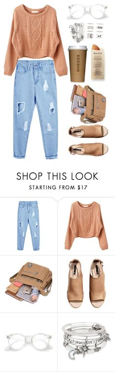 """""""#00110"""" by nglmfrryln ❤ liked on Polyvore featuring H&M, Martha Stewart, Alex and Ani and Forever 21"""
