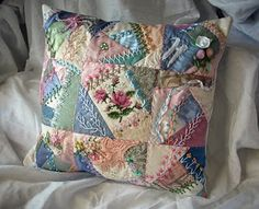 Crazy Quilt Pillow from Dances with Pit Bulls