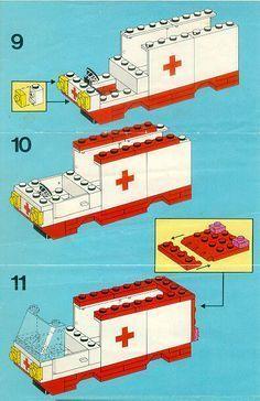 LEGO 6688 Ambulance instructions displayed page by page to help you build this amazing LEGO Rescue set Notice Lego, Lego Ambulance, Easy Lego Creations, Bloc Lego, Lego Hospital, Lego Basic, Lego Tree, Lego Creative, Classic Lego