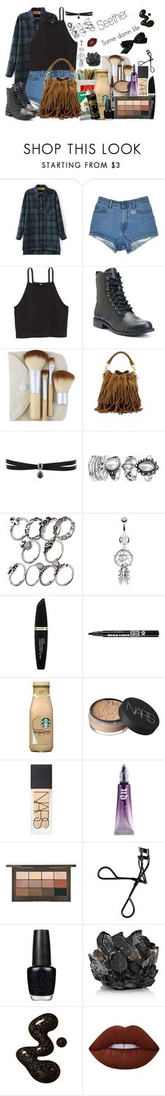 """""""Seether- Same Damn Life"""" by pocketfullofglitter ❤ liked on Polyvore featuring GET LOST, Bliss & Grace, Yves Saint Laurent, Fallon, Bling Jewelry, Max Factor, Bourjois, NARS Cosmetics, Urban Decay and Bobbi Brown Cosmetics"""
