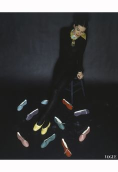 Footlights Ballet Slippers   Vogue, March 1944   Photo John Rawlings