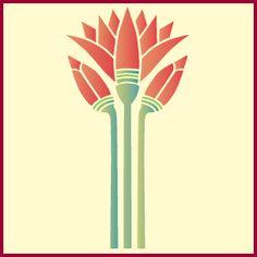 Egyptian Lotus Stencil Flower Stencils Japanese The Artful Stencil Lotus Kunst, Lotus Art, Tatoo Tree, Ancient Egypt Art, Ancient Aliens, Ancient Artifacts, Ancient Greece, Ancient History, Egyptian Art