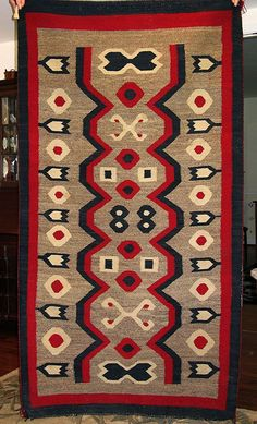 Navajo Weaving / Rug, Western Reservation, Lay-a-way Option Native American Rugs, Native American Artifacts, Native American Indians, Navajo Art, Navajo Rugs, Indian Quilt, Indian Rugs, Southwest Rugs, Navajo Weaving