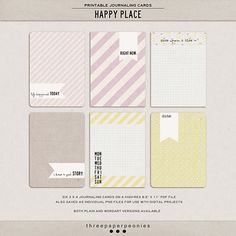 happy place | printable journaling cards