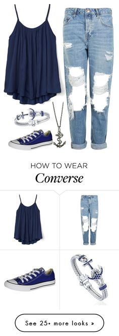 """Untitled #1026"" by the-annoying-fangirl on Polyvore featuring Topshop, Gap, Converse and Zara Taylor"