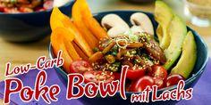 (Low Carb Kompendium) – Heute haben wir ein schnell zubereitetes und gesundes Low-Carb Poke Bowl Rezept für euch. Mit frischem Gemüse und mariniertem Fisch ist es natürlich wie immer mit wenig Kohlenhydraten und schmeckt einfach