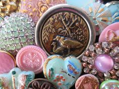 Beautiful VINTAGE Sewing Buttons