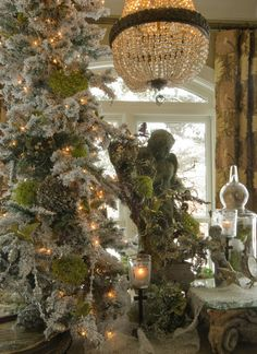 Romancing the Home: February 2013-- add moss to tree (along with other natural items) for nature theme.