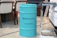 Barril Decorativo Tiffany - #rebecaguerra #tiffany #lata #decoração #barril