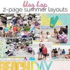 Two-Page Summer Scrapbook Pages | Blog Hop | Get It Scrapped
