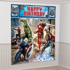 "New Avengers Party Decoration 1piece 32.5 X 59"""