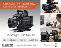 The Black Magic Design Ursa Mini 4K EF is here! 4K, RAW, 4:4:4 (all internal), 12g-SDI, 1080 Monitor, and more! Come see it now!