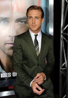 Olive suit - Rian Gosling