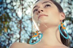 Sutasz-Anka: Arcadia- earrings  Model: Ewa Urbańczyk  Photo: Albert Łukasiak