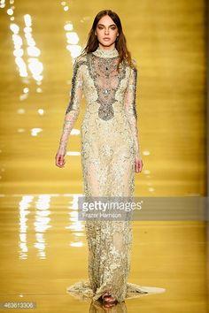 Reem Acra - Runway - Mercedes-Benz Fashion Week Fall 2015 : News Photos